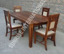 Elegant design wooden dining set ( 1 Table + 4 cushion chair )