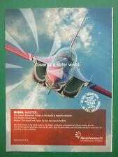 6/2009 PUB AVION AERMACCHI M-346 JET TRAINER AERONAUTICA MILITARE ORIGINAL AD
