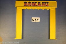 (G221) playmobil façade cirque romani 3720