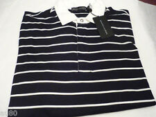 RALPH LAUREN POLO  Mens polo L/S shirt BLACK LABEL size S Black with White NWT!