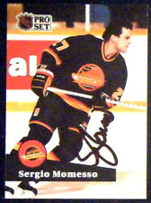 Sergio Momesso Vancouver Canucks 1991-92 Pro Set ProSet Signed Card