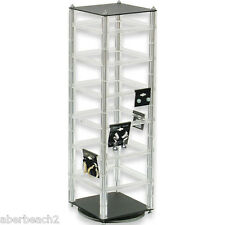 "Rotating Revolving Earring Display Stand Holds 48 2"" x 2"" cards"