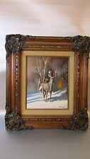 RUSS MARWIN Original Oil Painting Identifying the unknown - Framed Signed