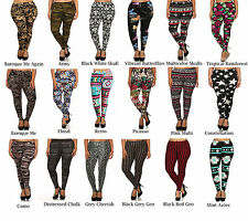 Womens Plus Size Graphic Print Pattern Buttery Soft Leggings