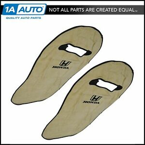 OEM Tan Cotton Terry Velour Seat Armour Cover Front LH & RH Pair for Honda