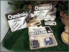 VINTAGE OSMIROID- 9 SCREW-ON NIBS, 17 INK CARTRIDGES, 2 INSTRUCTION BOOKS, 1 BOX