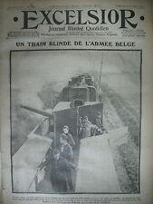 WW1 N° 1459 BELGIQUE TRAIN BLINDé TIRAILLEURS SENEGALAIS JOURNAL EXCELSIOR 1914