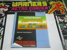mario world all stars  super nintendo snes Video game Manual only retro official