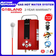 GASLAND Portable Gas Hot Water Heater LPG Outdoor Shower Camping Hose Fittings