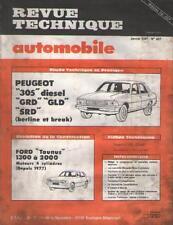 RTA Revue Automobile PEUGEOT 305 Diesel GRD GLD SRD FORD Taunus 1300 2000 N 407