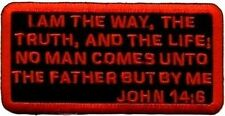 John 14:6 Embroidered Christian Bible Verse Motorcycle Biker Vest Patch PAT-1018