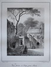 Vue Issy Pres Paris CHARLES CONSTANS LITHOGRAPHIE d apres ARNOUT Gravure 1823