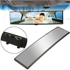 Universal Cars 30cm Wide Curve Convex Interior Clips Panoramic Rear View Mirror