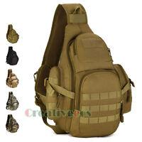 Men  Chest Bag Waterproof Nylon Tactical Travel Hiking Sling Messenger Back Pack