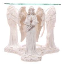 Blanco Rezando Angels Estatuilla quemador de aceite de Aromaterapia cera se derrite Tart Calentador