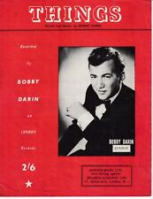 Things - Bobby Darin - 1961 Sheet Music