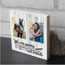 Personalised Best Friend Plaque Footloose Souls Wooden Photo Block Present Gift
