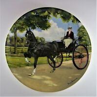 HACKNEY Plate The Noble Horse Collection #7 Susie Whitcombe Carriage Buggy Black
