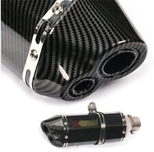 "Universal 14.6"" Dual-outlet Exhaust Muffler Pipe Motorcycle ATV Scooter 2"" Inlet"
