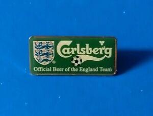 ENGLAND NATIONAL FOOTBALL TEAM OFFICIAL CARLSBERG BEER RECTANGULAR PIN BADGE ENG