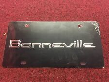 Pontiac Bonneville 3D Black Chrome Vanity License Plate Officially Licensed