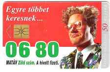 Green number 06 80 Hungary phonecard used.