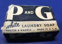 Proctor & Gamble White Laundry Soap BAR World War II Packaging Unused New Style
