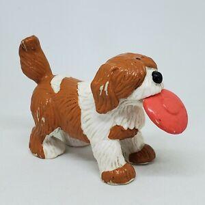 Vintage Barkley the Dog PVC Figure Applause Sesame Street Cake Topper Frisbee
