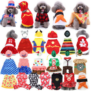 Pet Dog Christmas Clothes Cartoon Jumpsuit Coat Apparel Puppy New Dress Costume