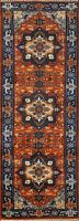 "Geometric Heriz Serapi Oriental Runner Rug Hand-knotted Wool 2' 5""x7' 9"" Carpet"