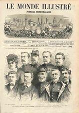 Procès du Maréchal Bazaine Tribunal Grand Trianon Versailles Témoin GRAVURE 1873