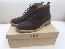 Sole Suede Boots - Brown UK45