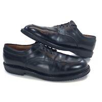 Allen Edmonds Mens Size 12 B Split Toe Black Leather Derby Shoes Oxfords Vibram