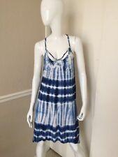 VOLCOM Women's 100% Viscose Blue Tie Dyed Racerback Summer Dress Sz M NWOT!