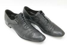 CESARE PACIOTTI men shoes sz 7 Europe 39 black leather S7702