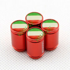 4X Red Italy Flag Wheel Tire Valve Stem Caps Dust Cover For FIAT 500 Accessories