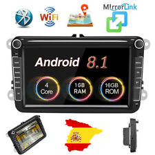 Doble 2Din 8'' Coche Radio Android 8.1 GPS Navi para VW PASSAT GOLF POLO Caddy