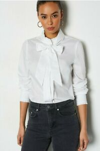 KARE MILLEN Cotton Frill Pussy Bow Top RRP £115