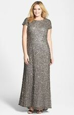 Adrianna Papell Embellished Scoop Back Gown (size 22W)