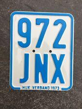 Moped - Kennzeichen, Nummernschild von 1973, Kreidler, DKW, Zündapp etc.