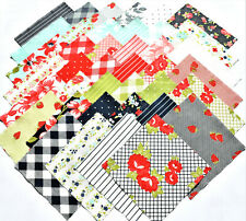 """SUNDAY STROLL Charm Pack from MODA - (42) 5"""" factory-cut squares - #55220PP"""