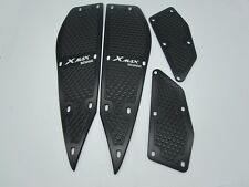 Black CNC Foot Peg Plate Footrest Step Pad Mat Cover For Yamaha XMAX 250 300 400