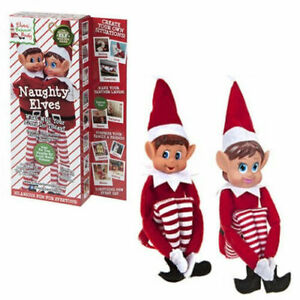 2 x Posing Elf Novelty Naughty Adult Mischievous Christmas On A Shelf Elfs