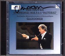 John Eliot GARDINER Signiert BEETHOVEN Symphony No.5 & 6 Pastoral ARCHIV CD 1994