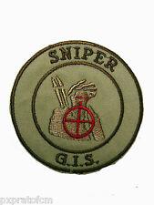 Patch Sniper GIS Carabinieri Sabbia Toppa Gruppo Intervento Speciale Militare