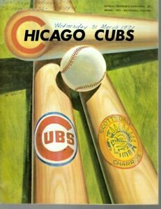 1971 (3/31) Spring Training Baseball Program Padres @ Cubs, scored ~ Good