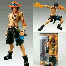 "ONE PIECE/ FIGURA D. ACE PORTGAS 18 CM- VARIABLE ACTION HEROES   7"" IN  BOX"