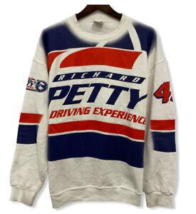 Vtg Richard Petty The King Nascar 90's Men's Sz L Double Sided Tultex Sweatshirt