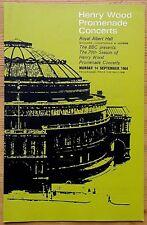 Henry Wood Prom Concerts programme Royal Albert Hall 14/09/1964 Nadine Sautereau