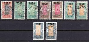 Togo 1921/22 # Mandatsverwaltung, MiNr.45-49, gestempelt, used
